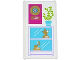 Part No: 57895pb033  Name: Glass for Window 1 x 4 x 6 with Gold Vinyl Record on Plaque, Plant and Trophy Cabinet Pattern (Sticker) - Set 41103