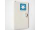Part No: 58381pb02  Name: Door 1 x 3 x 4 Left - Open Between Top and Bottom Hinge (New Type) with Maersk Logo Pattern (Sticker) - Set 10219