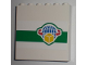 Part No: 59349pb006  Name: Panel 1 x 6 x 5 with Box and Arrows and Globe on Green Stripe Pattern (Sticker) - Set 7733