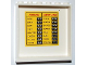 Part No: 59349pb032  Name: Panel 1 x 6 x 5 with Arrivals / Departures Schedule Pattern on Inside (Sticker) - Set 3182
