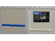 Part No: 59349pb038  Name: Panel 1 x 6 x 5 with 4 Surveillance Screens on Inside and Blue Stripe on Outside Pattern (Stickers) - Set 7288