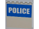 Part No: 59349pb040  Name: Panel 1 x 6 x 5 with White 'POLICE' on Blue Background Half Height Pattern (Sticker) - Set 7498