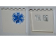 Part No: 59349pb054  Name: Panel 1 x 6 x 5 with Medical Charts on Inside and EMT Star of Life on Outside Pattern (Stickers) - Set 4429