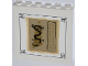 Part No: 59349pb076  Name: Panel 1 x 6 x 5 with Black Dragon and Gold Asian Characters Pattern (Sticker) - Set 70505