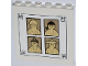 Part No: 59349pb077  Name: Panel 1 x 6 x 5 with 4 Sensei Portraits Pattern (Sticker) - Set 70505