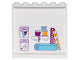 Part No: 59349pb126  Name: Panel 1 x 6 x 5 with 2 Clipboards, Shelf with 3 Ribbon Spools and 3 Rolls of Wrapping Paper on Inside Pattern (Sticker) - Set 41132