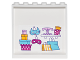 Part No: 59349pb127  Name: Panel 1 x 6 x 5 with Gift Boxes, Masks, Shelf with Cake Stand and Round Boxes and Shopping Bags on Inside Pattern (Sticker) - Set 41132