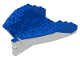 Part No: 6053c02  Name: Boat Hull Small Stern 14 x 12 x 5 1/3 Complete Assembly, Top Color Blue