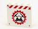 Part No: 60581pb012  Name: Panel 1 x 4 x 3 with Side Supports - Hollow Studs with Miners Logo (Helmet with Crossed Pickaxes in Gear) Pattern (Sticker) - Set 4204
