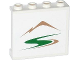 Part No: 60581pb038L  Name: Panel 1 x 4 x 3 with Side Supports - Hollow Studs with Mountains and Green Road Pattern (Sticker) - Set 60057