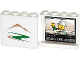 Part No: 60581pb038R  Name: Panel 1 x 4 x 3 with Side Supports - Hollow Studs with Mountains / Green Road on Outside and Minifigure on TV on Inside Pattern (Stickers) - Set 60057