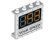 Part No: 60581pb084  Name: Panel 1 x 4 x 3 with Side Supports - Hollow Studs with '193' and 'YOUR SPEED' Pattern
