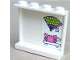 Part No: 60581pb104  Name: Panel 1 x 4 x 3 with Side Supports - Hollow Studs with Fan and Crab on Shelf Pattern on Inside (Sticker) - Set 41315