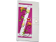 Part No: 60616pb007R  Name: Door 1 x 4 x 6 with Stud Handle with Nailed Wooden Boards, Rose Vines and Red Butterfly Pattern Model Right Side (Sticker) - Set 41039