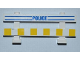 Part No: 6079pb03  Name: Fence 1 x 8 x 2 2/3 with Blue Lines, 'POLICE' and White and Yellow Stripes Pattern (Stickers) - Set 7286
