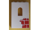 Part No: 60808pb002  Name: Panel 1 x 4 x 5 with Window with Red Bricks Pattern Bottom Right (Sticker) - Set 6242