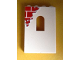 Part No: 60808pb003  Name: Panel 1 x 4 x 5 with Window with Red Bricks Pattern Top Left (Sticker) - Set 6242