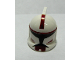 Part No: 61189pb05  Name: Minifigure, Headgear Helmet SW Clone Trooper with Holes, Dark Red Markings Pattern