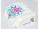 Part No: 61484pb009  Name: Windscreen 5 x 6 x 2 Curved Top Canopy with 4 Studs with 'Ice Cream' on Front and Octan Pattern on Both Sides (Stickers) - Set 70804