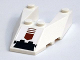Part No: 6153bpb04  Name: Wedge 6 x 4 Cutout with Stud Notches with Black and Dark Red Arrow Pattern (Sticker) - Set 7714