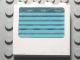 Part No: 6156pb01  Name: Panel 1 x 4 x 3 with Fixed Glass with 6 White Stripes Pattern (Sticker) - Set 6666