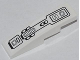Part No: 61678pb060  Name: Slope, Curved 4 x 1 No Studs with Black Mechanical Pattern (Sticker) - Set 70504