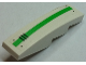 Part No: 61678pb095R  Name: Slope, Curved 4 x 1 No Studs with 4 Bolts, Vent Grille and Green Stripe Pattern (Sticker) - Set 70704