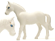 Part No: 6171pb01  Name: Horse, Belville with Blue Eyes and Gold Stars Pattern