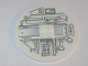Part No: 6177pb009R  Name: Tile, Round 8 x 8 with Machinery Pattern Model Right (Sticker) - Set 10019