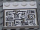Part No: 6179px1  Name: Tile, Modified 4 x 4 with Studs on Edge with Pipes Pattern