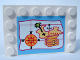 Part No: 6180pb001  Name: Tile, Modified 4 x 6 with Studs on Edges with Map Pattern (Sticker) - Set 5960