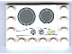 Part No: 6180pb031  Name: Tile, Modified 4 x 6 with Studs on Edges with Stove Top Pattern (Sticker) - Set 5940