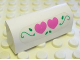 Part No: 6191pb001  Name: Brick, Modified 1 x 4 x 1 1/3 No Studs, Curved Top with Two Dark Pink Hearts and Green Leaves Pattern (Sticker) - Set 5890