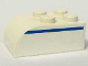 Part No: 6215pb01R  Name: Brick, Modified 2 x 3 with Curved Top with Blue Line Right Pattern (Sticker) - Set 1376