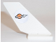 Part No: 6239pb030R  Name: Tail Shuttle with Classic Space Logo Pattern on Right Side (Sticker) - Set 7692