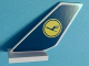 Part No: 6239pb045  Name: Tail Shuttle with Lufthansa Logo Pattern on Both Sides (Stickers) - Set 40146