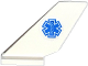 Part No: 6239pb047  Name: Tail Shuttle with EMT Star of Life (Blue Snake) Pattern on Both Sides (Stickers) - Set 60086