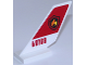 Part No: 6239pb057  Name: Tail Shuttle with Fire Logo Badge on Red Background and Red '60108' on White Background Pattern on Both Sides (Stickers) - Set 60108