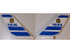 Part No: 6239pb068  Name: Tail Shuttle with 'POLICE', Badge and Blue Stripes Pattern on Both Sides (Stickers) - Set 60138