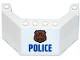 Part No: 62576pb04  Name: Windscreen 5 x 8 x 2 with Copper Badge and Blue 'POLICE' Pattern (Sticker) - Set 60129