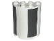 Part No: 6259pb009  Name: Cylinder Half 2 x 4 x 4 with Black Sections Pattern (Stickers) - Set 7468