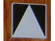 Part No: 6309p02  Name: Duplo Tile 2 x 2 with Shape Black Inverse Isosceles Triangle Pattern