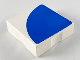 Part No: 6309p0c  Name: Duplo Tile 2 x 2 with Shape Blue Quarter Disc Pattern