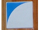 Part No: 6309p0d  Name: Duplo Tile 2 x 2 with Shape Blue Inverse Quarter Disc Pattern