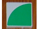 Part No: 6309p0m  Name: Duplo Tile 2 x 2 with Shape Green Quarter Disc Pattern