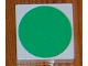 Part No: 6309p0q  Name: Duplo Tile 2 x 2 with Shape Green Disc Pattern