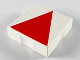 Part No: 6309p0t  Name: Duplo Tile 2 x 2 with Shape Red Isosceles Triangle Pattern