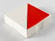Part No: 6309p0v  Name: Duplo Tile 2 x 2 with Shape Red Right Triangle Pattern