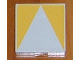 Part No: 6309p12  Name: Duplo Tile 2 x 2 with Shape Yellow Inverse Isosceles Triangle Pattern
