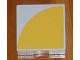 Part No: 6309p14  Name: Duplo Tile 2 x 2 with Shape Yellow Quarter Disc Pattern